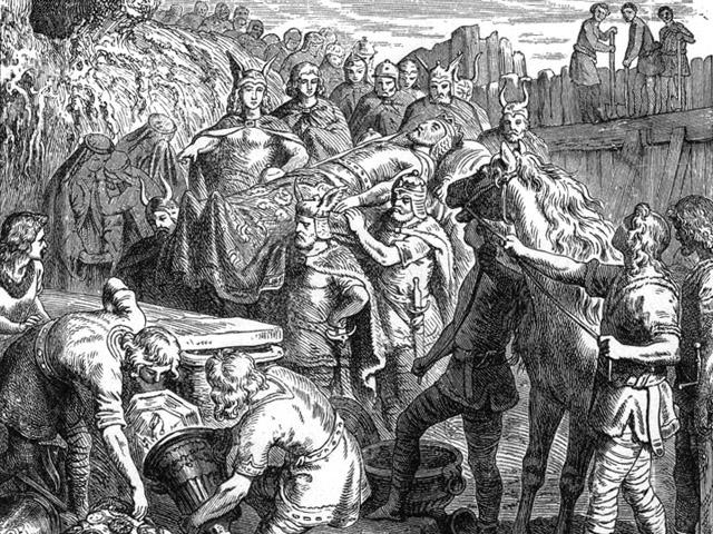 Śmierć Alaryka, litografia z 1895 roku