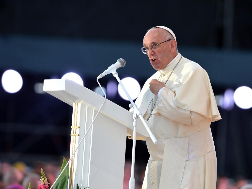 Franciszek przemawia do młodych na Campus Misericordiae 30 lipca