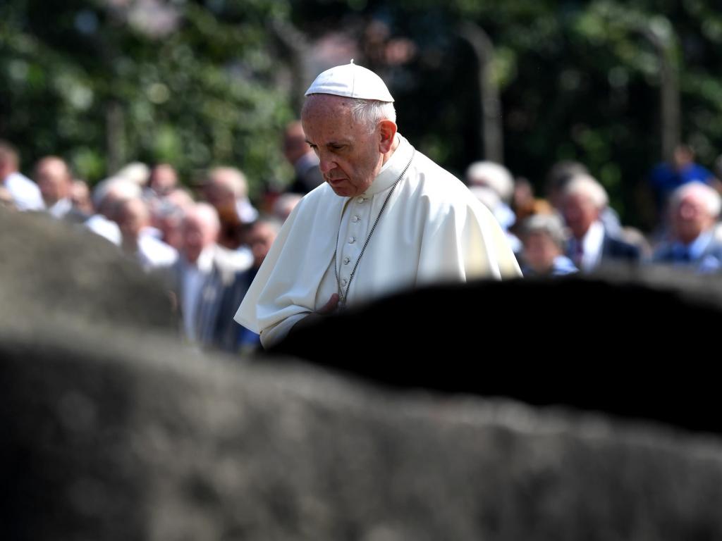 Wizyta papieża w obozie Auschwitz-Birkenau 29 lipca