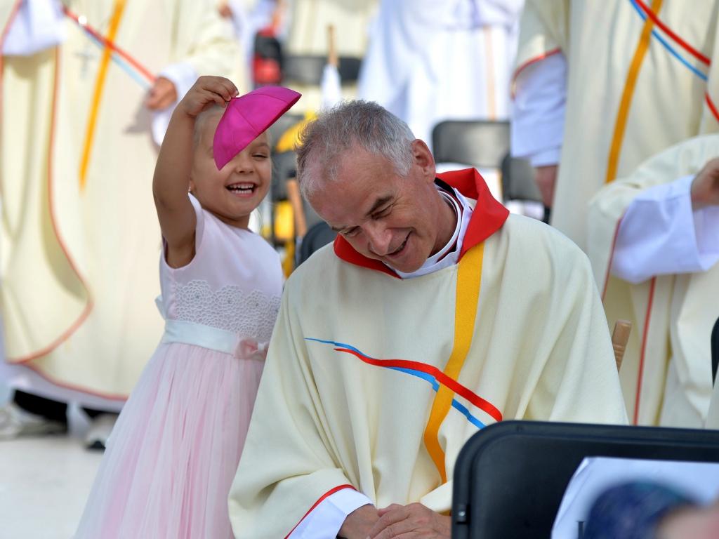 Przed mszą posłania w Brzegach, kończącą Światowe Dni Młodzieży 31 lipca