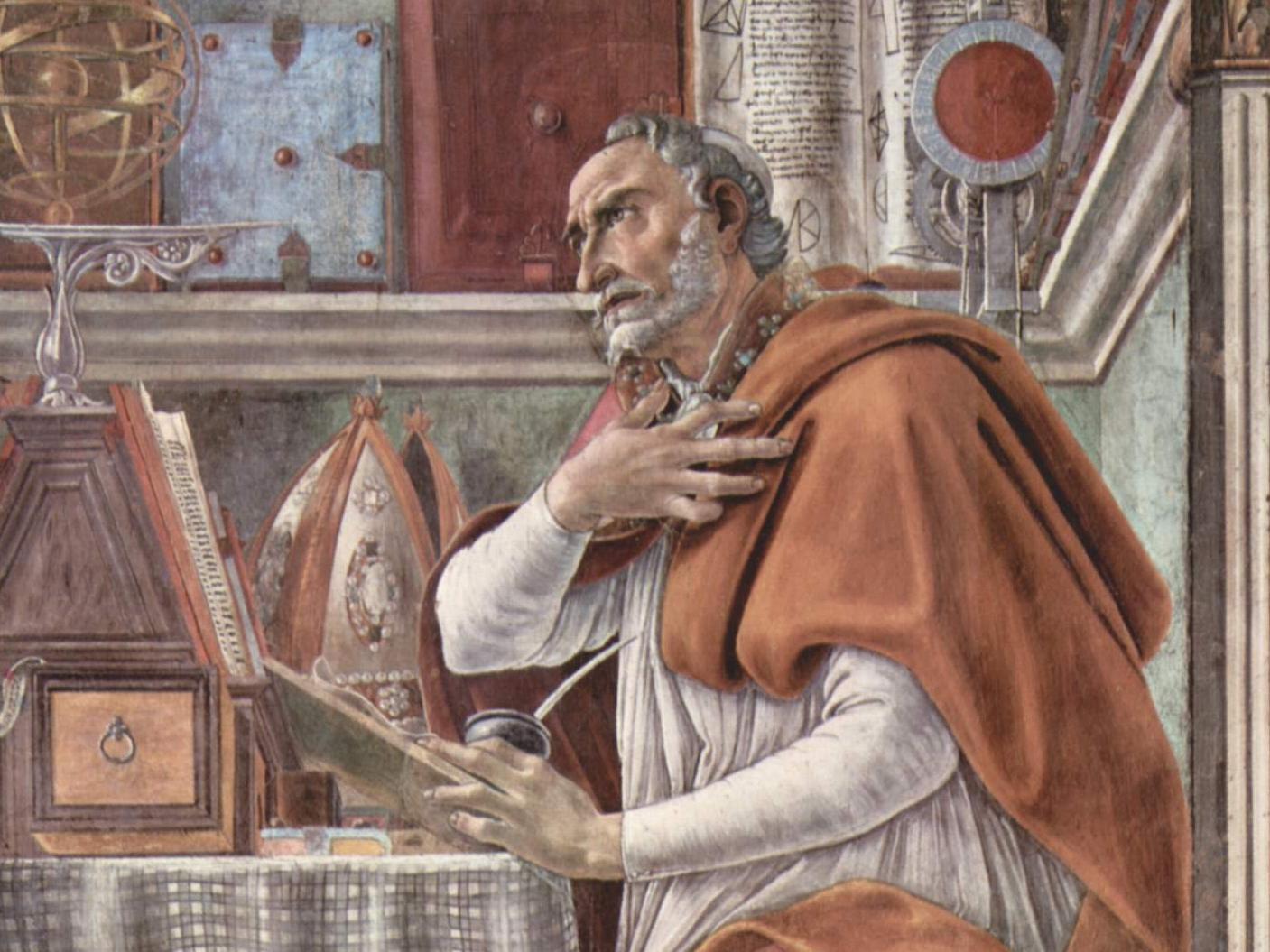 """Sandro Botticelli, """"Święty Augustyn w pracowni"""""""