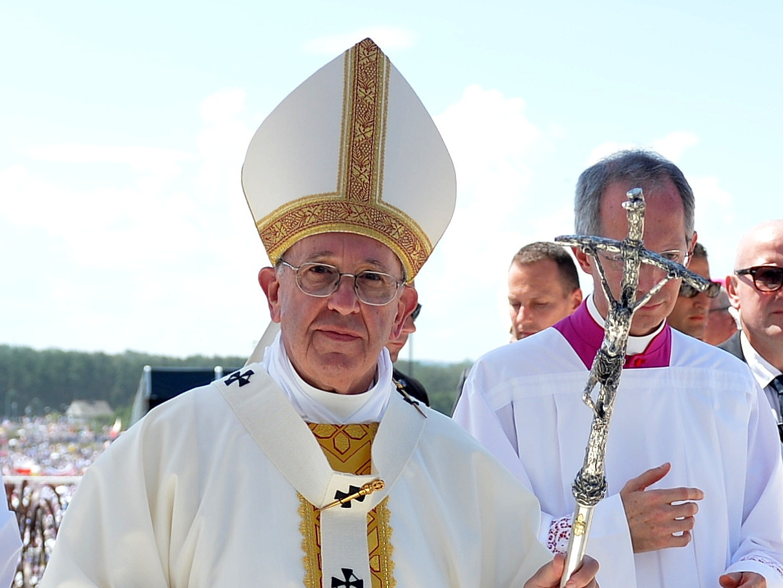 Msza posłania w Brzegach, kończąca Światowe Dni Młodzieży 31 lipca