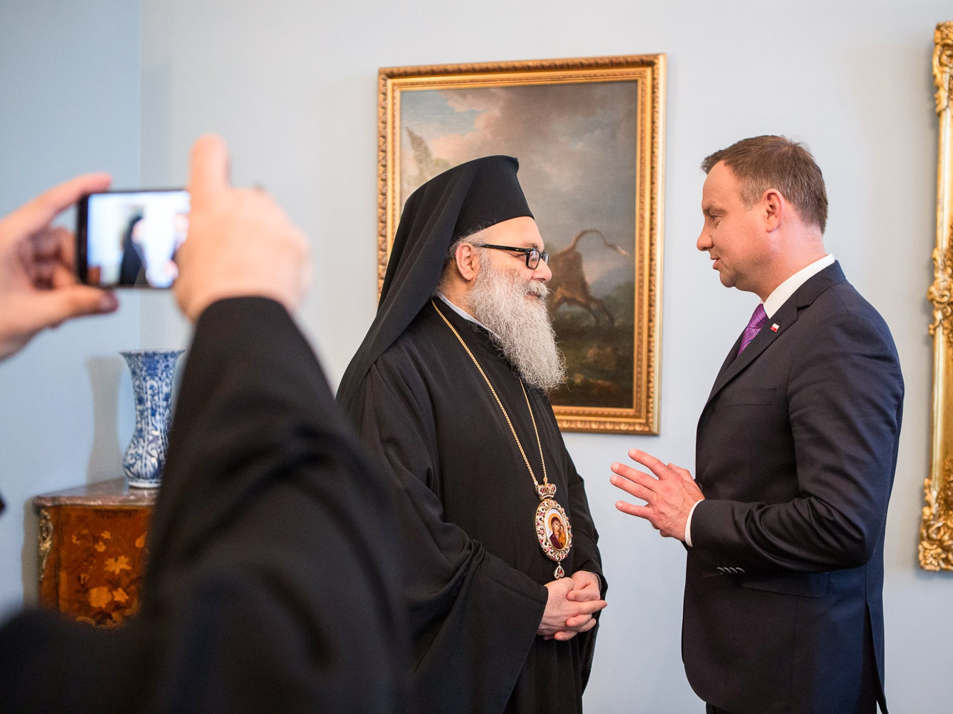 Patriarcha Jan X i prezydent Andrzej Duda