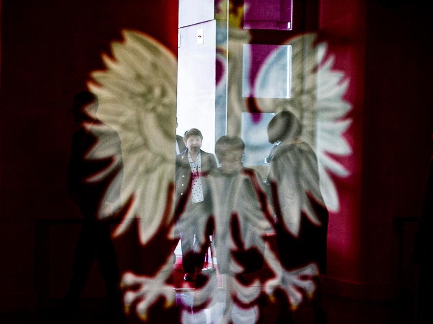 Premier Beata Szydło wchodzi do Kancelarii Premiera