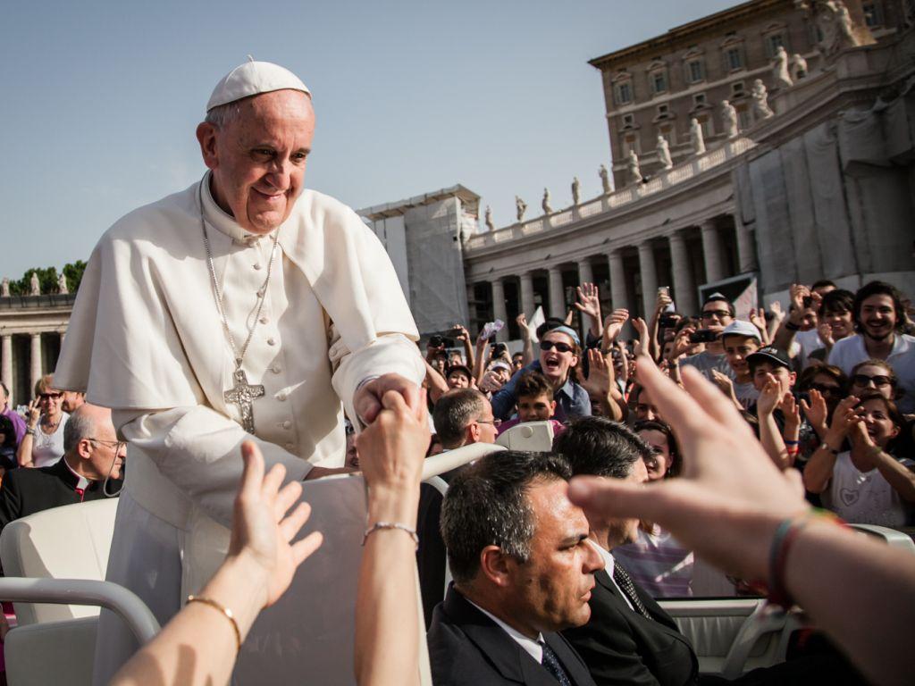 Franciszek na placu św. Piotra