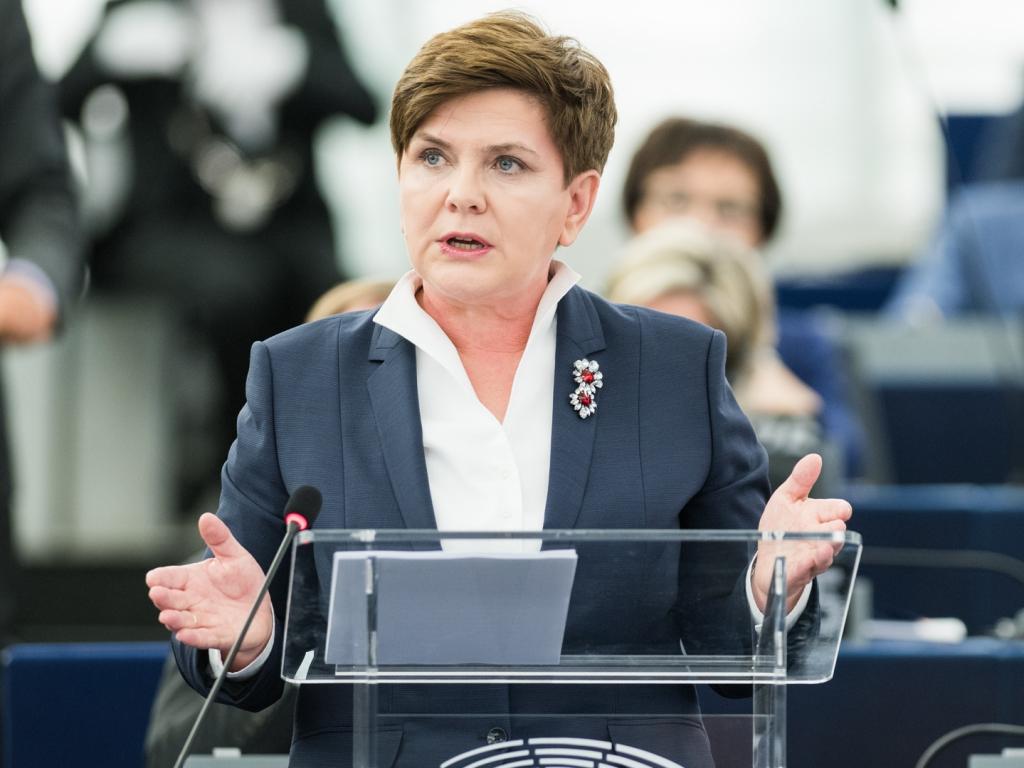 Premier Beata Szydło w Parlamencie Europejskim