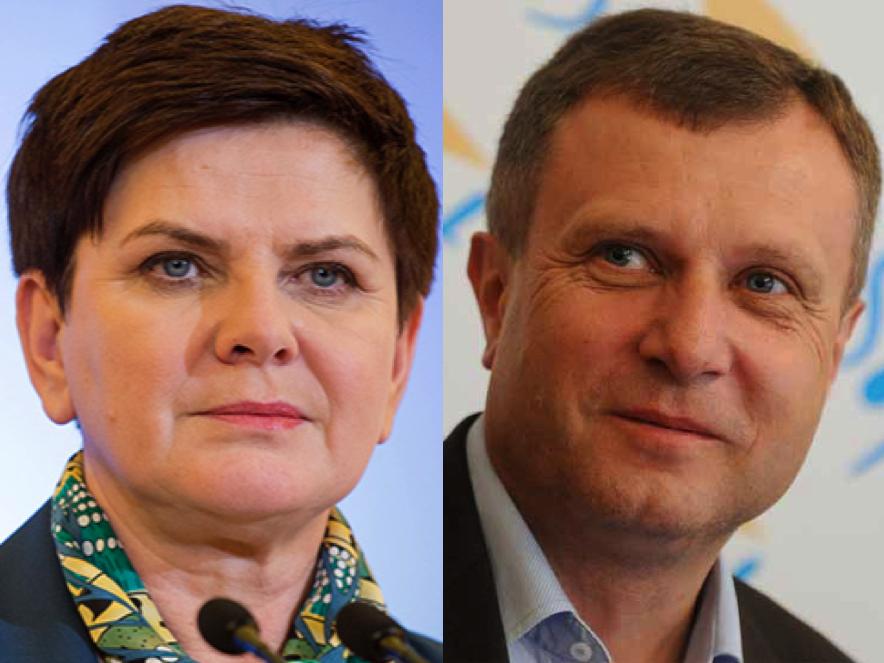 Premier Beata Szydło, prezydent Sopotu Jacek Karnowski