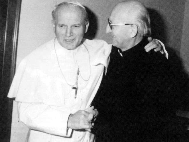 Papież Jan Paweł II i ks. Franciszek Blachnicki