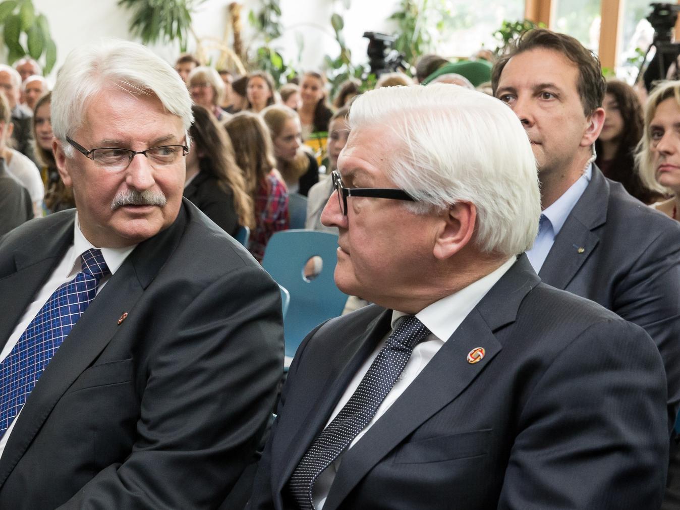Witold Waszczykowski i Frank-Walter Steinmeier