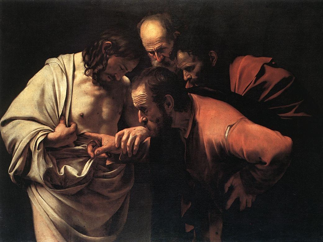 """Caravaggio, """"Niewierny Tomasz"""""""