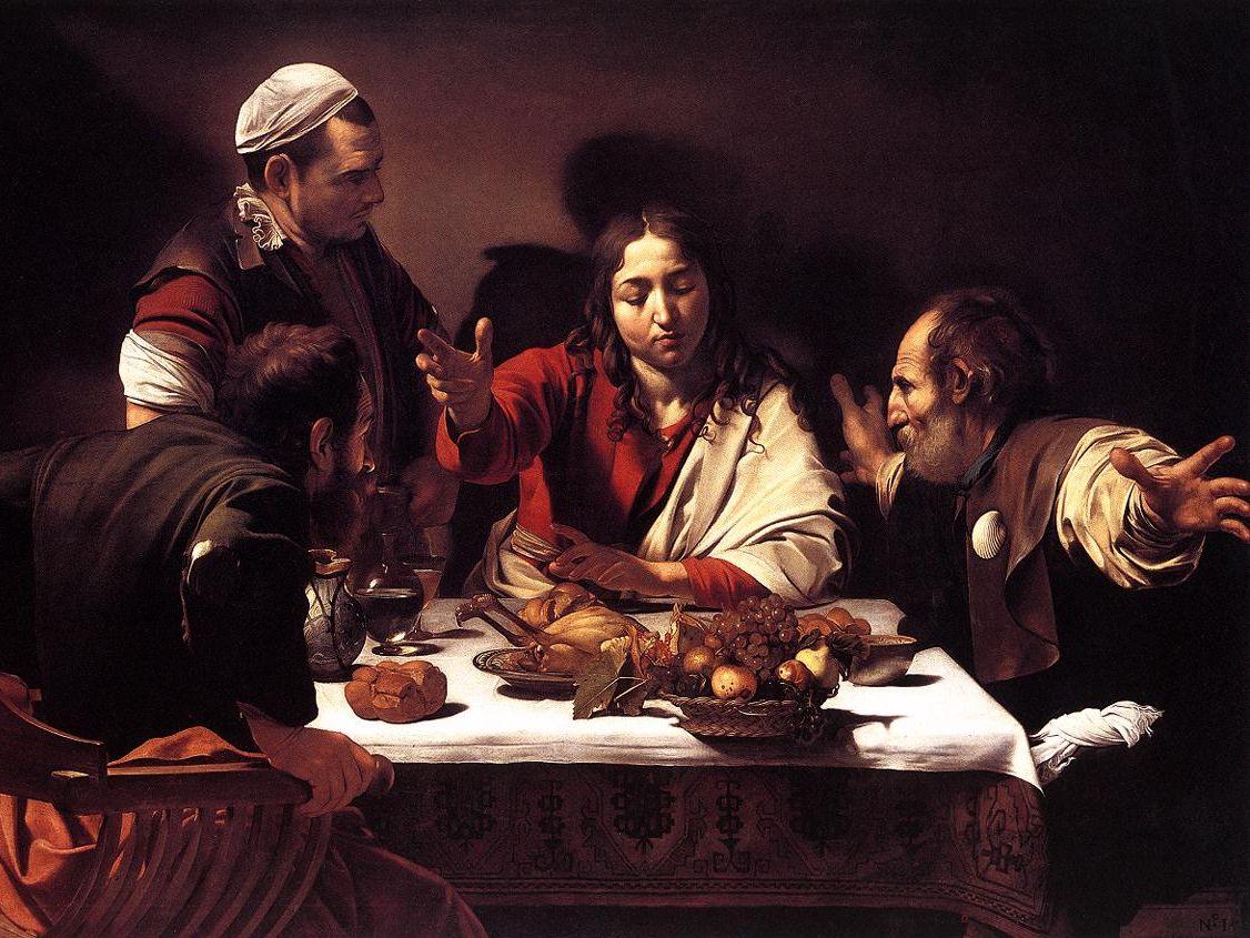 Wieczerza w Emaus, Caravaggio