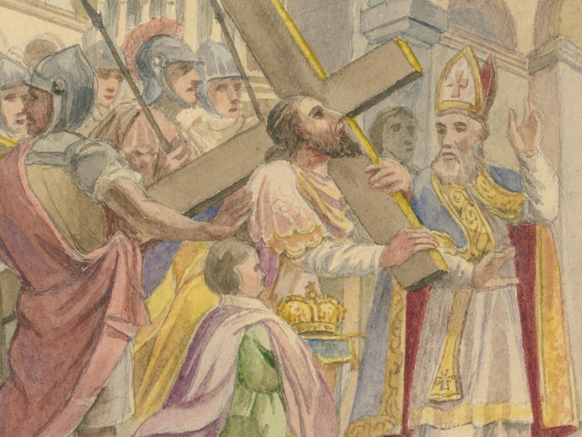 """Juliusz Makarewicz """"Chrystus niosący krzyż na Golgotę"""""""