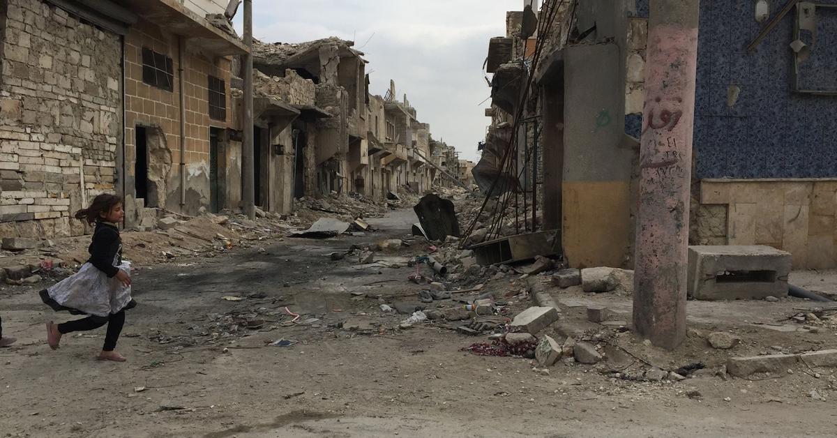 Aleppo, ruiny
