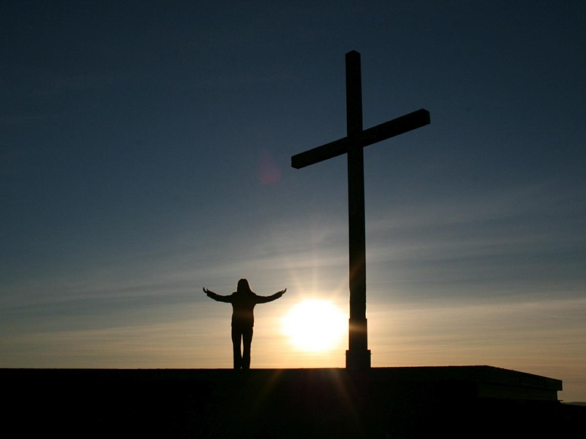 Krzyż, słońce