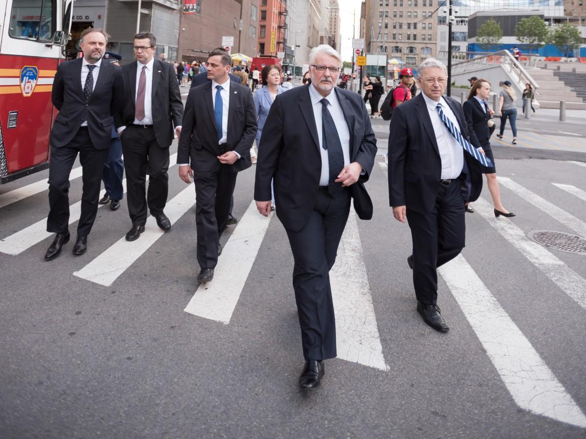 Minister Witold Waszczykowski z wizytą w Nowym Jorku