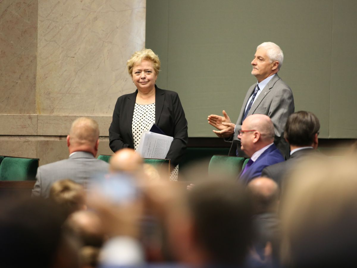 Pierwsza prezes Sądu Najwyższego Małgorzata Gersdorf podczas 46. posiedzenia Sejmu 18 lipca 2017 r.