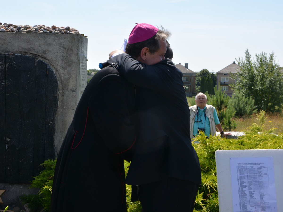Biskup Rafał Markowski i rabin Michael Schudrich