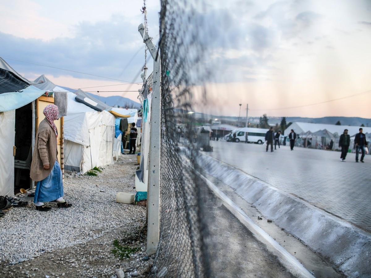 Obóz dla uchodźców w Turcji