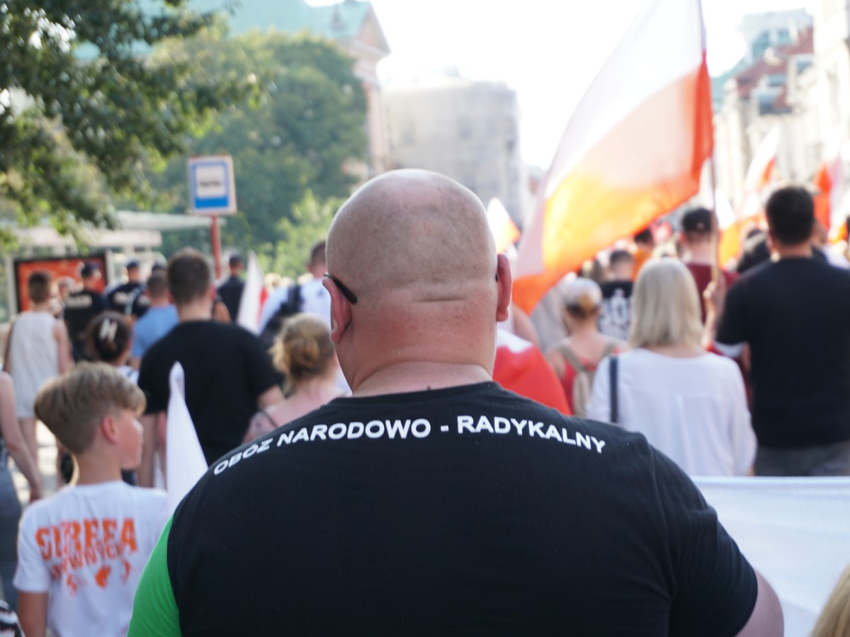 Marsz przez Krakowskie Przedmieście i ul. Miodową 1 sierpnia