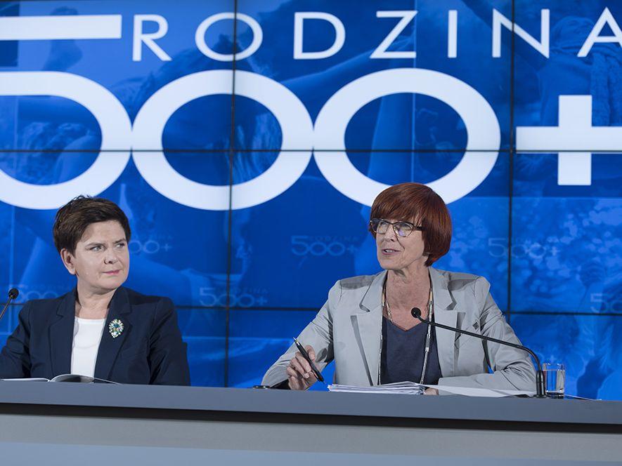 Premier Beata Szydło i minister Elżbieta Rafalska