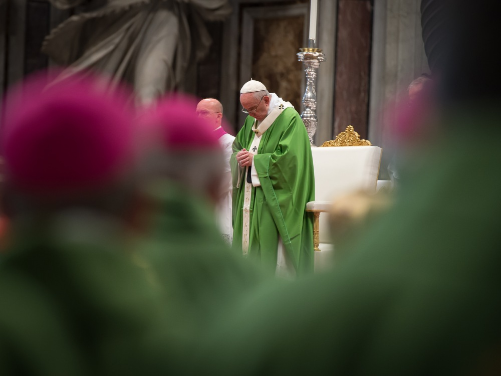 Papież Franciszek podczas synodu biskupów o rodzinie