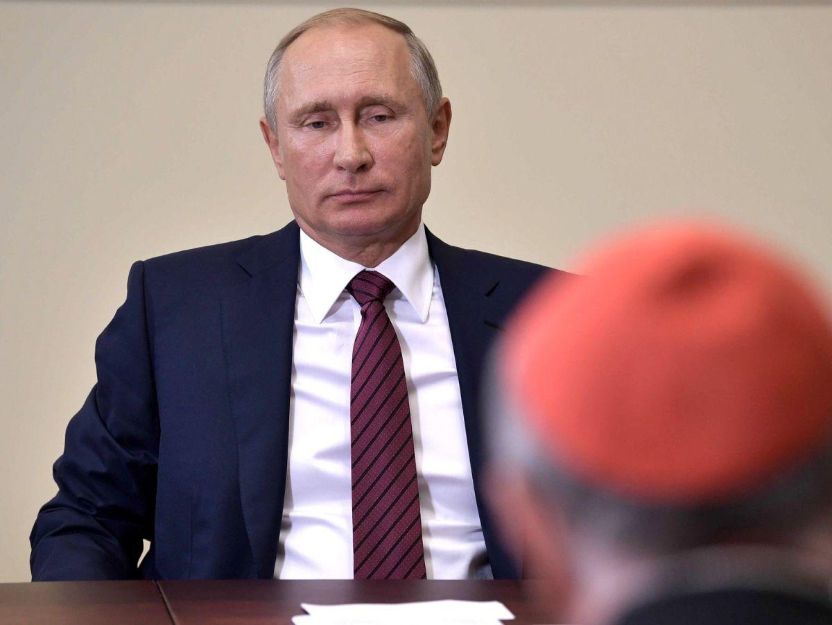 Prezydent Rosji Władimir Putin i kard. Pietro Parolin