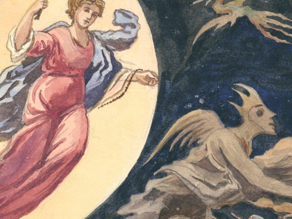 Matka Boża przepędzająca demony