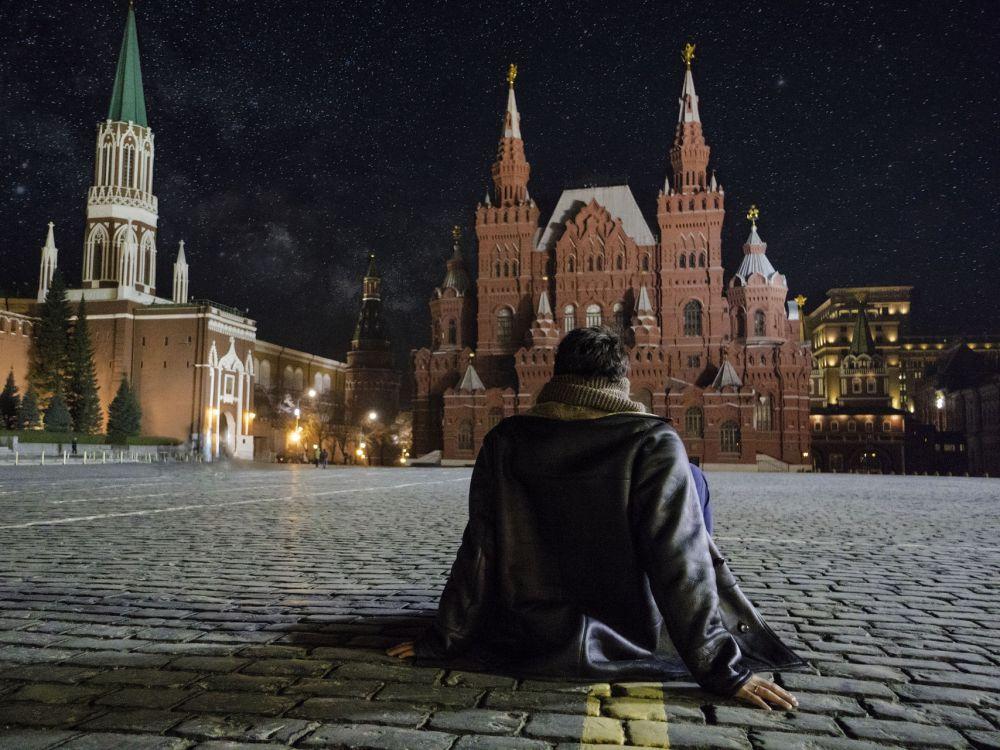 Mężczyzna na Placu Czerwonym