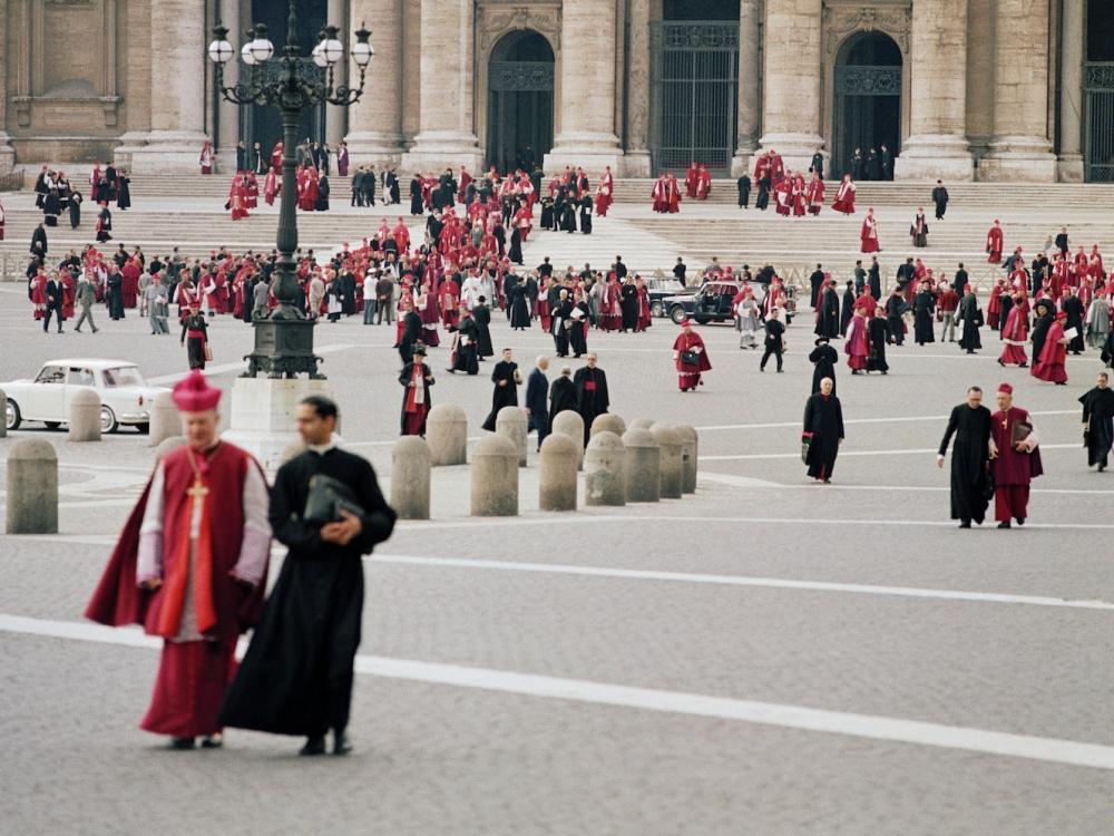 Plac św. Piotra w Rzymie podczas Soboru Watykańskiego II