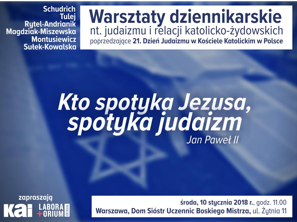 Warsztaty poprzedzające 21. Dzień Judaizmu