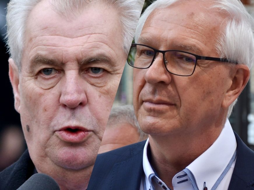 Miloš Zeman i Jiří Drahoš