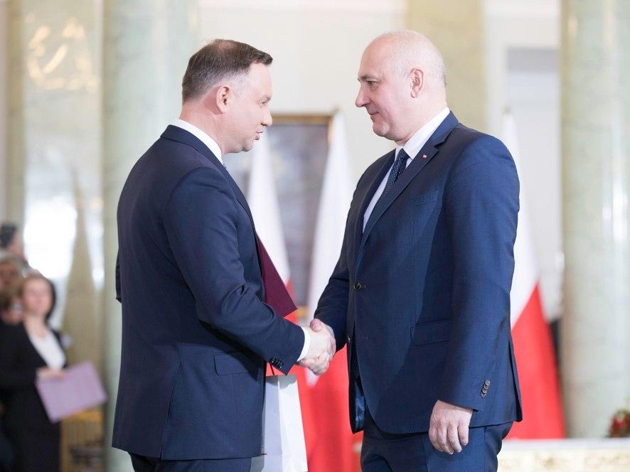 Prezydent Andrzej Duda i Joachim Brudziński
