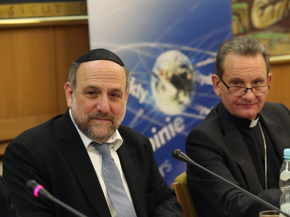 Rabin Michael Schudrich i biskup Rafał Markowski