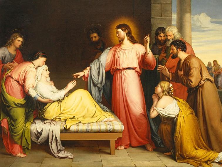 """""""Jezus uzdrawia teściową Piotra"""", John Bridges, 1839"""