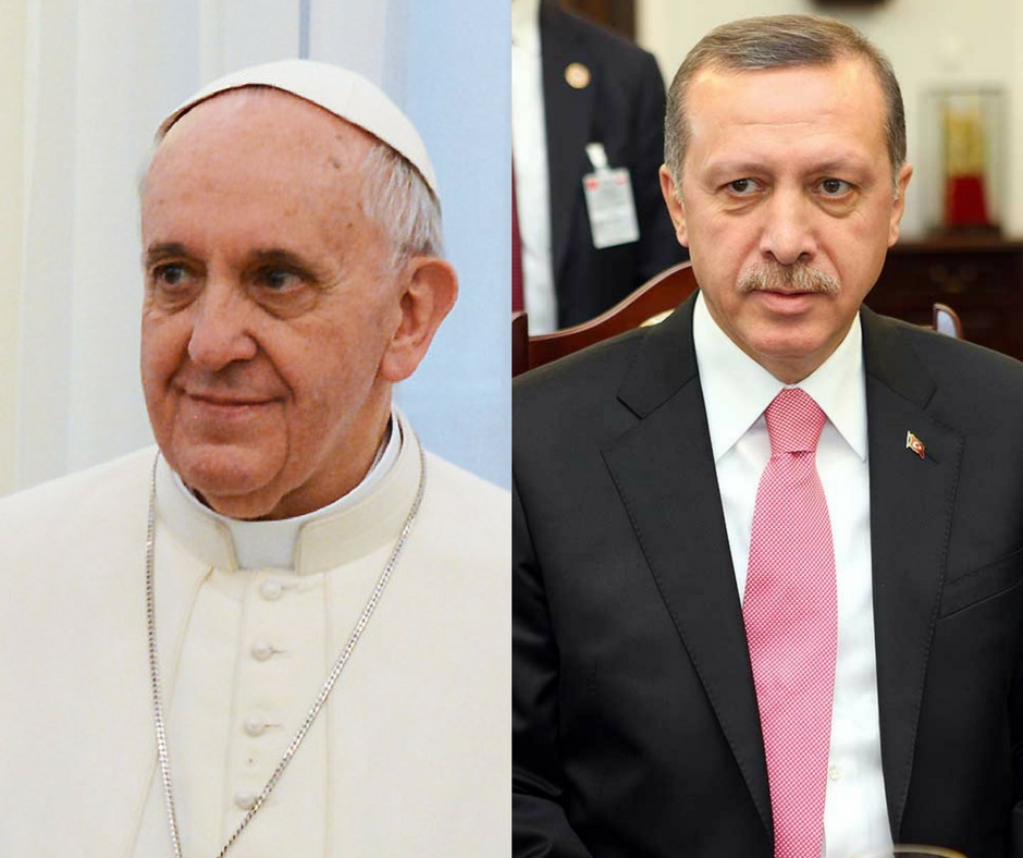 Franciszek, Recep Tayyip Erdoğan