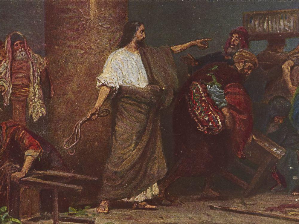 Jezus wyrzucający handlarzy ze świątyni
