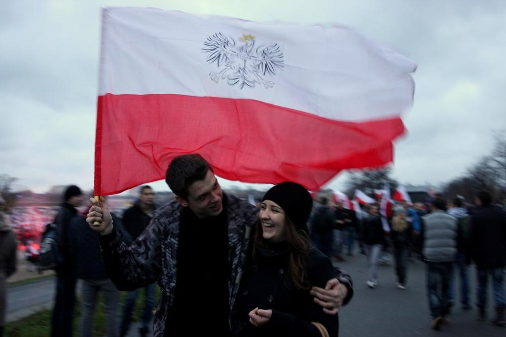 Zdjęcie zrobione podczas Marszu Niepodległości 2015 w Warszawie. Fot. Piotr Drabik