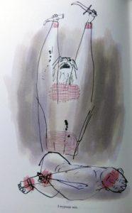 """Ilustracja Serge'a Blocha z rozdziału """"Abraham i Izaak"""", umieszczona w książce """"Biblia. Wielkie opowieści Starego Testamentu"""""""