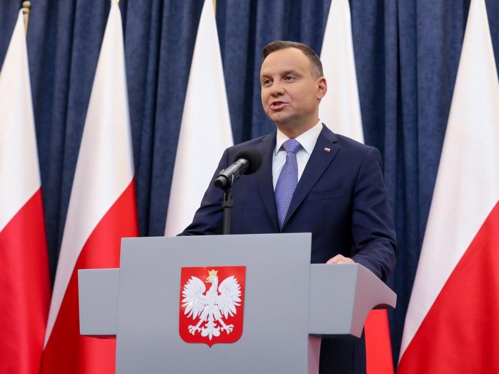 Oświadczenie Prezydenta RP Andrzeja Dudy dla mediów. Fot. Jakub Szymczuk / KPRP
