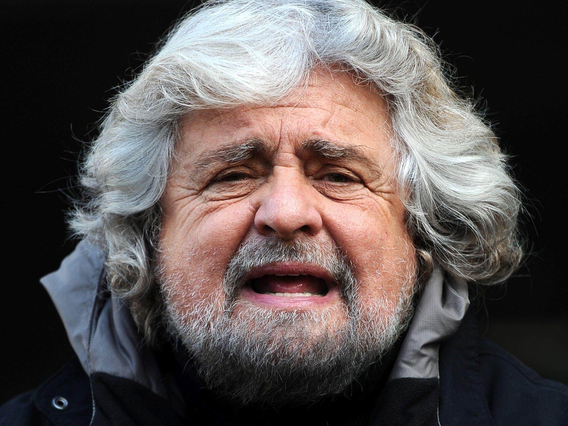 Beppe Grillo, lider Ruchu 5 Gwiazd