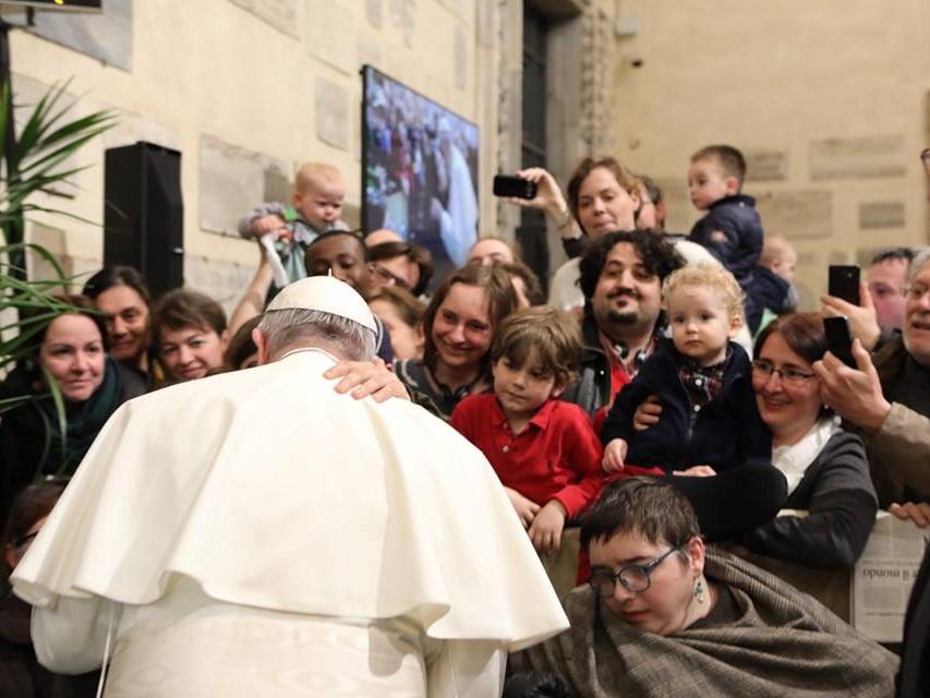 Franciszek podczas spotkania ze Wspólnotą Sant'Egidio w Rzymie 11 marca 2018. Fot. Comunità di Sant'Egidio - Community of Sant'Egidio