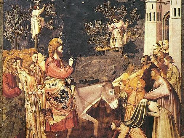 """Giotto, """"Wjazd do Jerozolimy"""""""