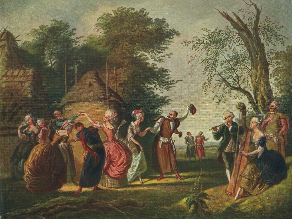 """Korneli Szlegel (1819-1870), """"Polonez pod gołym niebem"""""""