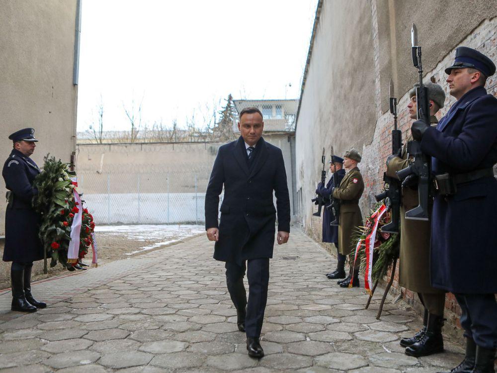 Prezydent Andrzej Duda na terenie byłego Aresztu Śledczego Warszawa-Mokotów
