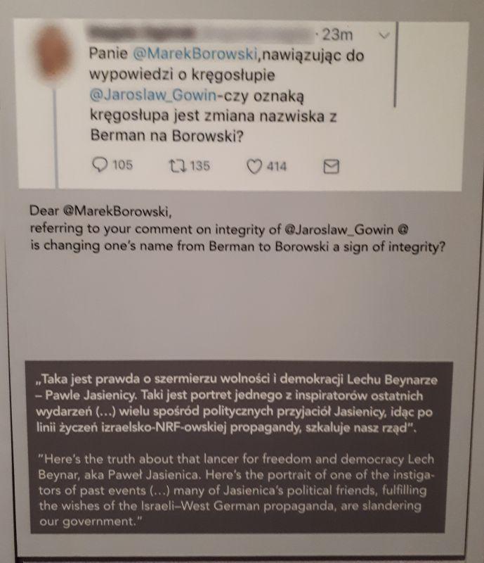 Cytat z Magdaleny Ogórek w Muzeum Polin