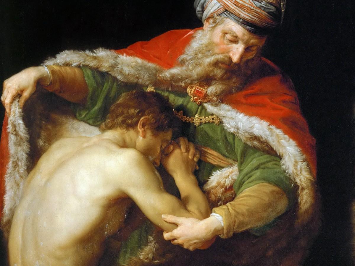 """Pompeo Batoni, """"Powrót syna marnotrawnego"""", 1773"""