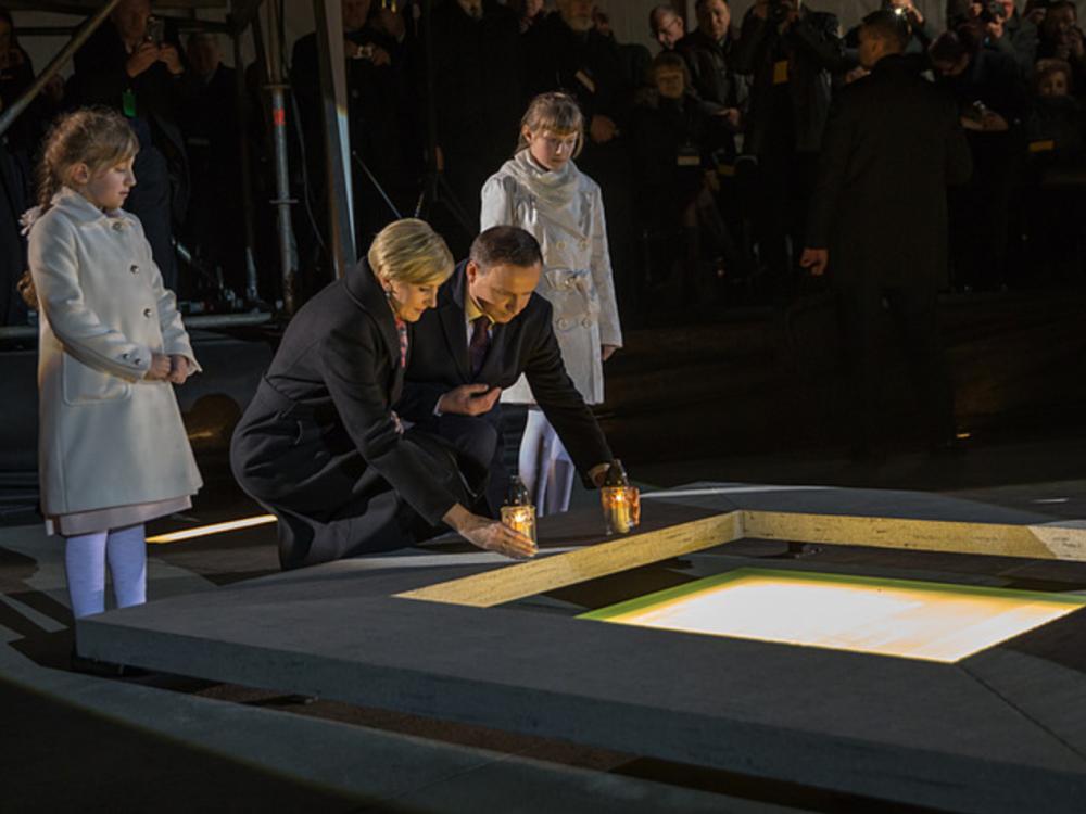 Prezydent Andrzej Duda na otwarciu Muzeum Polaków Ratujących Żydów podczas II wojny światowej