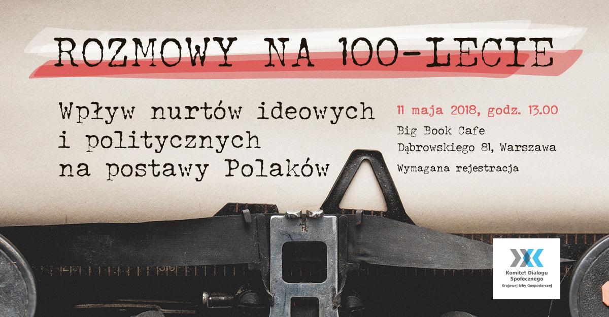 Rozmowy na 100-lecie: Wpływ nurtów ideowych i politycznych na postawy Polaków