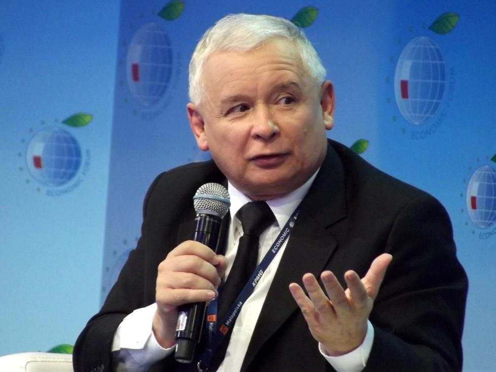 Jarosław Kaczyński podczas XIII Forum Ekonomicznego w Krynicy-Zdroju w 2013 roku. Fot. Piotr Drabik
