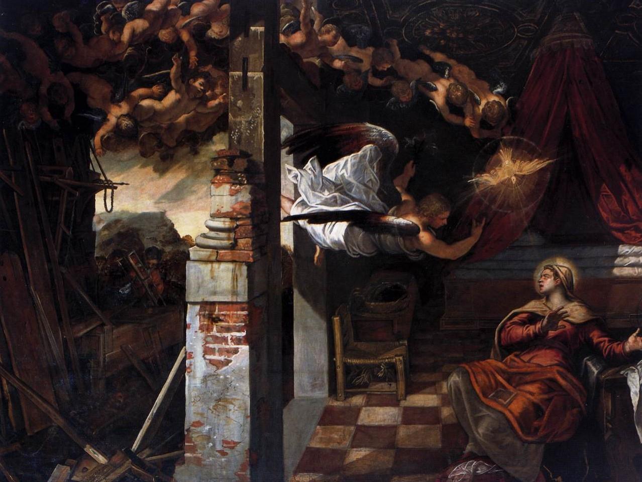 """Tintoretto, """"Zwiastowanie""""."""